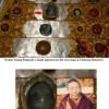 至尊赤江仁波切的图象出现在他的舍利塔上的大理石上