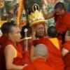 二零零九年十月,萨甘丹寺正式开幕仪式-神谕降神于多杰雄登大护法