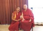 甘丹赤巴和至尊永嘉仁波切访问中国的成都